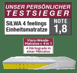 Testsieger Silwa 4 feelings Einheitsmatratze Abbildung