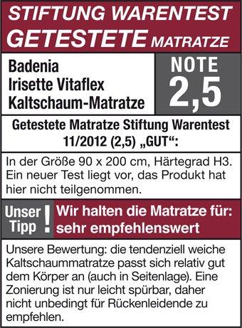 Stiftung Warentest Irisette Vitaflex Siegel Wasserbetten