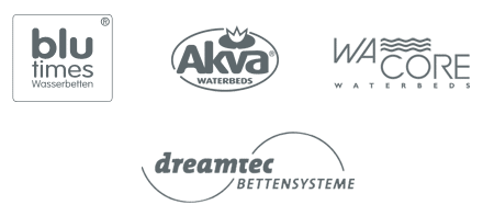 Wasserbetten Hersteller Logos