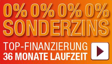 Finanzierung 0% Sonderzins zu 36 Monaten Laufzeit