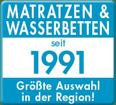 Matratzen und Wasserbetten seit 1991 Logo