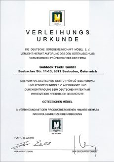 DGM Verleihungsurkunde