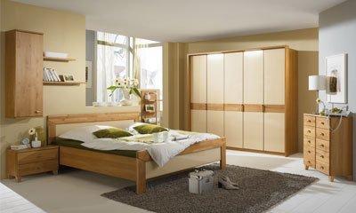 Teilmassiv Schlafzimmer